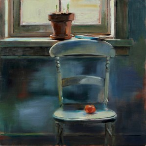 Chair with orange 36x36