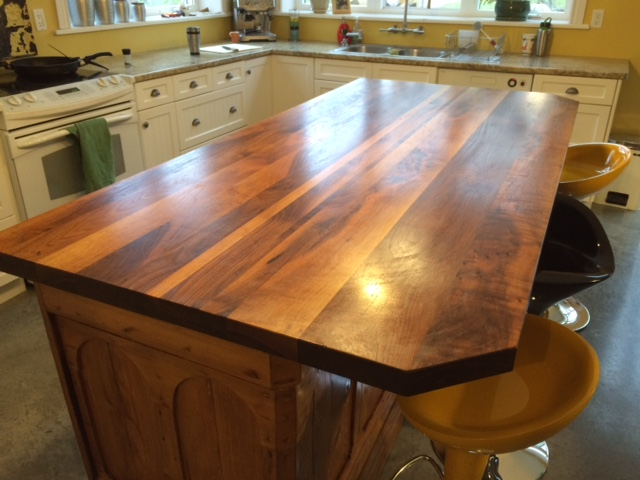 Existing Custom Kitchen Island Beveled Edge